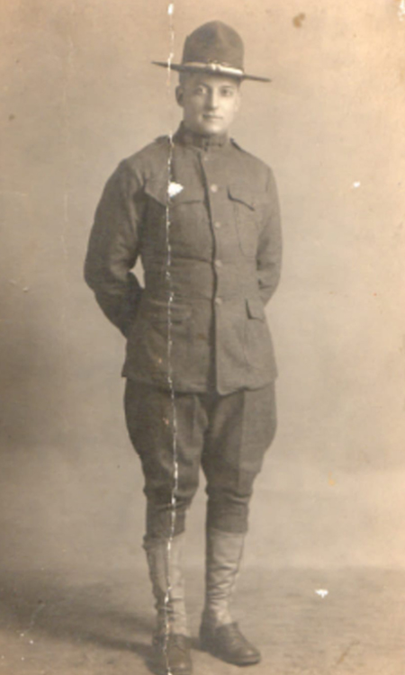 Research photos: My grandfather, Jack Rousseau, in his World War I uniform