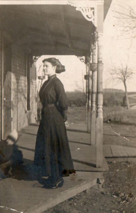 My grandmother, Mary (Hughes) Rousseau on her 18th birthday