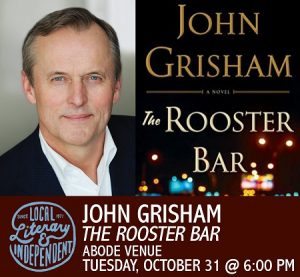 promo image for John Grisham at Adobe Venue